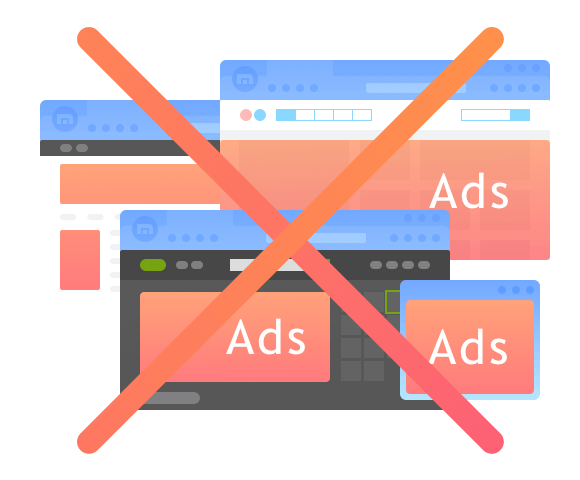 Web with no ads, no more annoying disturbing.